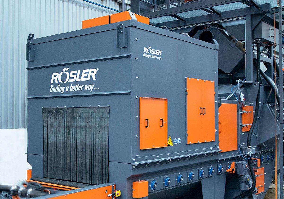 Baner: Śrutownica przelotowa ROSLER w Salzgitter Mannesmann