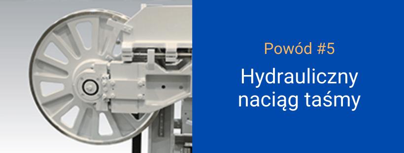 przecinarka BEHRINGER - hydrauliczny naciąg taśmy