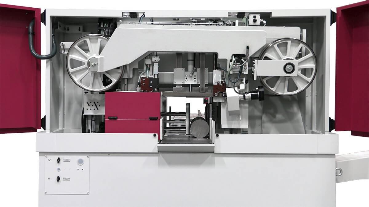 rama dwukolumnowa automatyczna przecinarka taśmowa behringer hbe-321